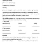 Sample High School Teacher Resume Template