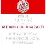 Sample Holiday Party Invitation