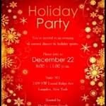 Sample Holiday Party Invitation Templates