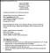 Sample Internship Resume Template