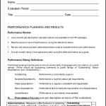 Sample Job Performance Evaluation Template