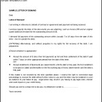 Sample Legal Demand Letter Template Word Formor Download
