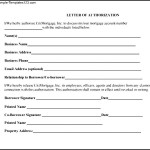 Sample Letter Of Authorization Form Format