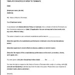 Sample Letter of Notice of Intent to Terminate Download