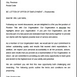 Sample Letter of Offer of Employment