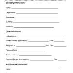 Sample Maintenance Work Order Form