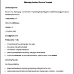 Sample Marketing Assistant Resume Template