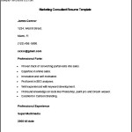Sample Marketing Consultant Resume Template