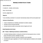 Sample Marketing Coordinator Resume Template