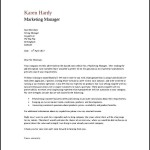 Sample Marketing Manager General Cover Letter PDF Free Download