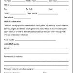 Sample Medical Authorization Form Format