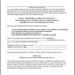 Sample Medical Power of Attorney Form Format