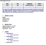 Sample Meeting Minutes Itinerary Template Free Download