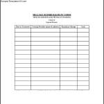 Sample Mileage Reimbursement Form