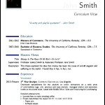 Sample Modern CV Template PDF