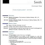 Sample Modern CV Template PDF