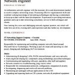 Sample Network Engineer CV Template
