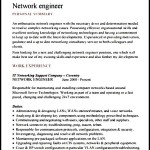 Sample Network Engineer Resume Template