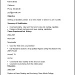 Sample Newsreader Resume CV Template