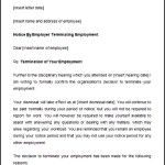 Sample Notice Period Disciplinary Termination Letter