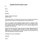 Sample Notice To Vacate Letter