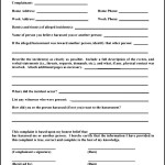 Sample Of Employee Complaint Form