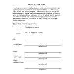 Sample Of Media Release Form
