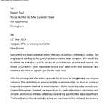 Sample Offer of Employment Letter
