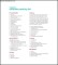 Sample Packing List Template