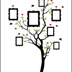 Sample Photo Family Tree Template with Frames