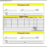 Sample Photography Receipt Template