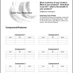 Sample Product Sheet Template