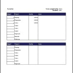 Sample Project Task List Template Free