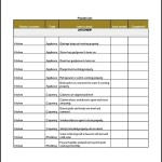Sample Punch List Template