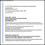 Sample Resume for BPO Experienced