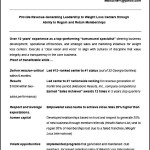 Sample Retail Sales Manager Resume CV Template