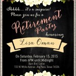 Sample Retirement Party Invitation Format