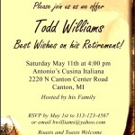 Sample Retirement Party Invitation Wording
