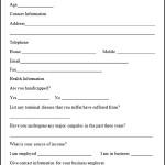 Sample Risk Assessment Form
