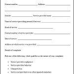 Sample Service Complaint Form