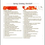 Sample Spring Cleaning List Template