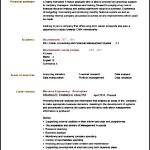 Sample Standard CV Format