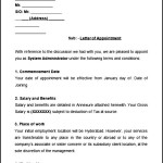 Sample System Administrator Appointment Letter