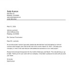 Sample Termination of Contract Letter