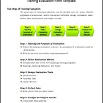 Sample Training Evaluation Form