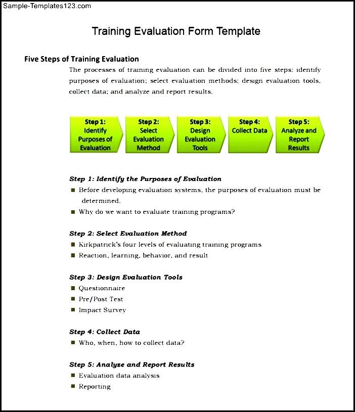 Training Evaluation Forms Templates  Resume Ideas  NamanasaCom