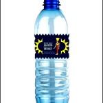 Sample Water Bottle Label Template
