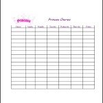 Sample Weekly Chore List Template