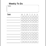 Sample Weekly To Do List Template Free Download