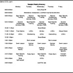 Sample Weekly Trip Itinerary Template